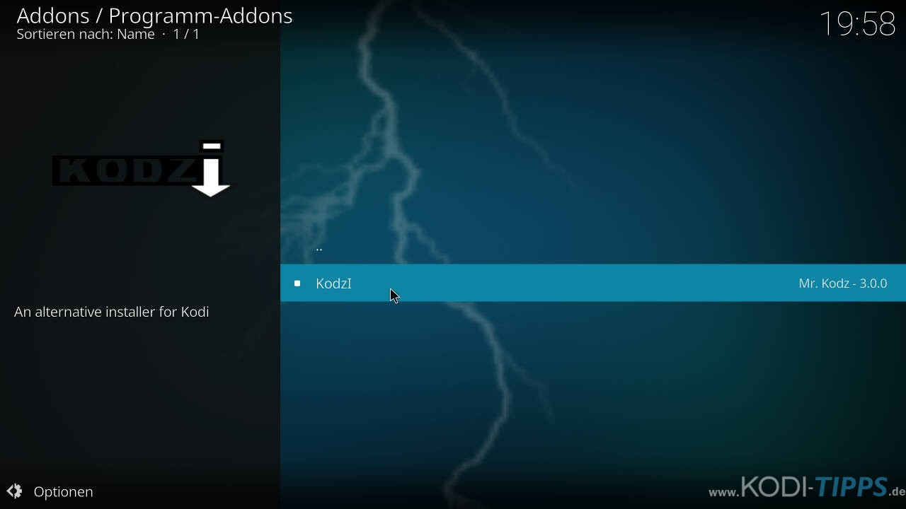Kodzi Kodi Addon installieren - Schritt 7
