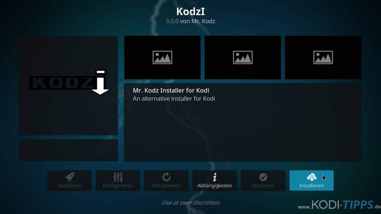 Kodzi Kodi Addon installieren - Schritt 8
