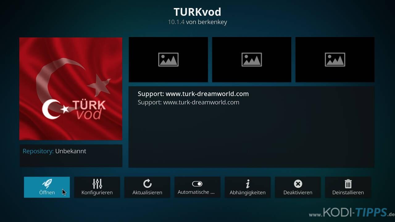 TurkVod Kodi Addon installieren - Schritt 11
