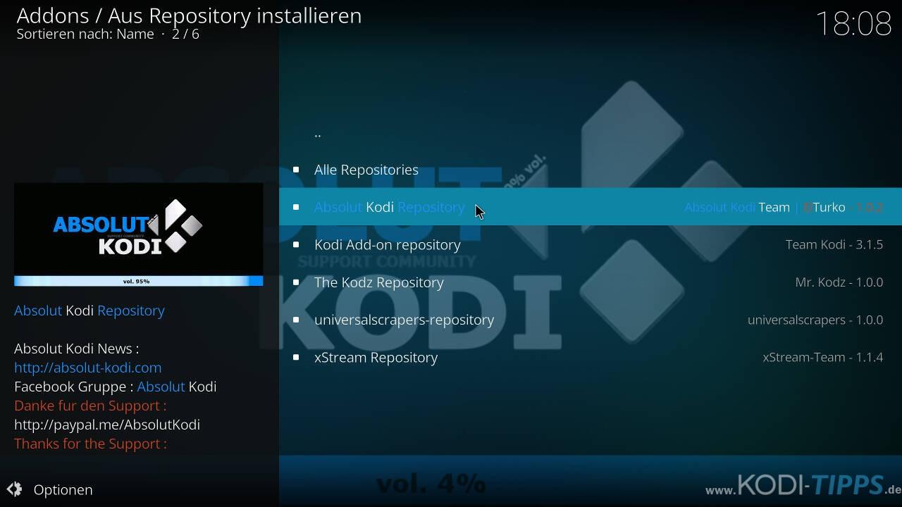 TurkVod Kodi Addon installieren - Schritt 5