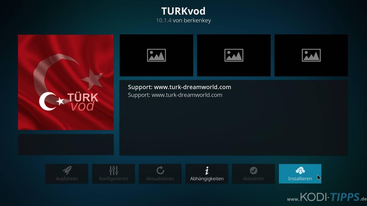 TurkVod Kodi Addon installieren - Schritt 8