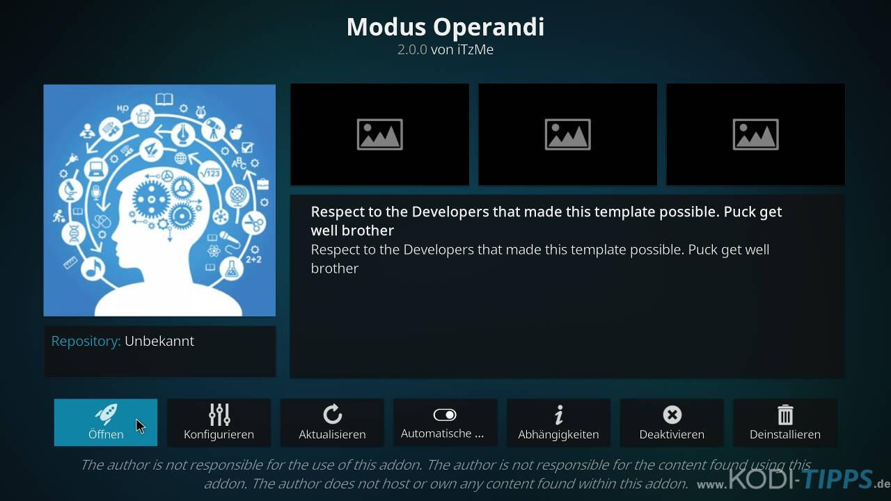 Modus Operandi Kodi Addon installieren - Schritt 11