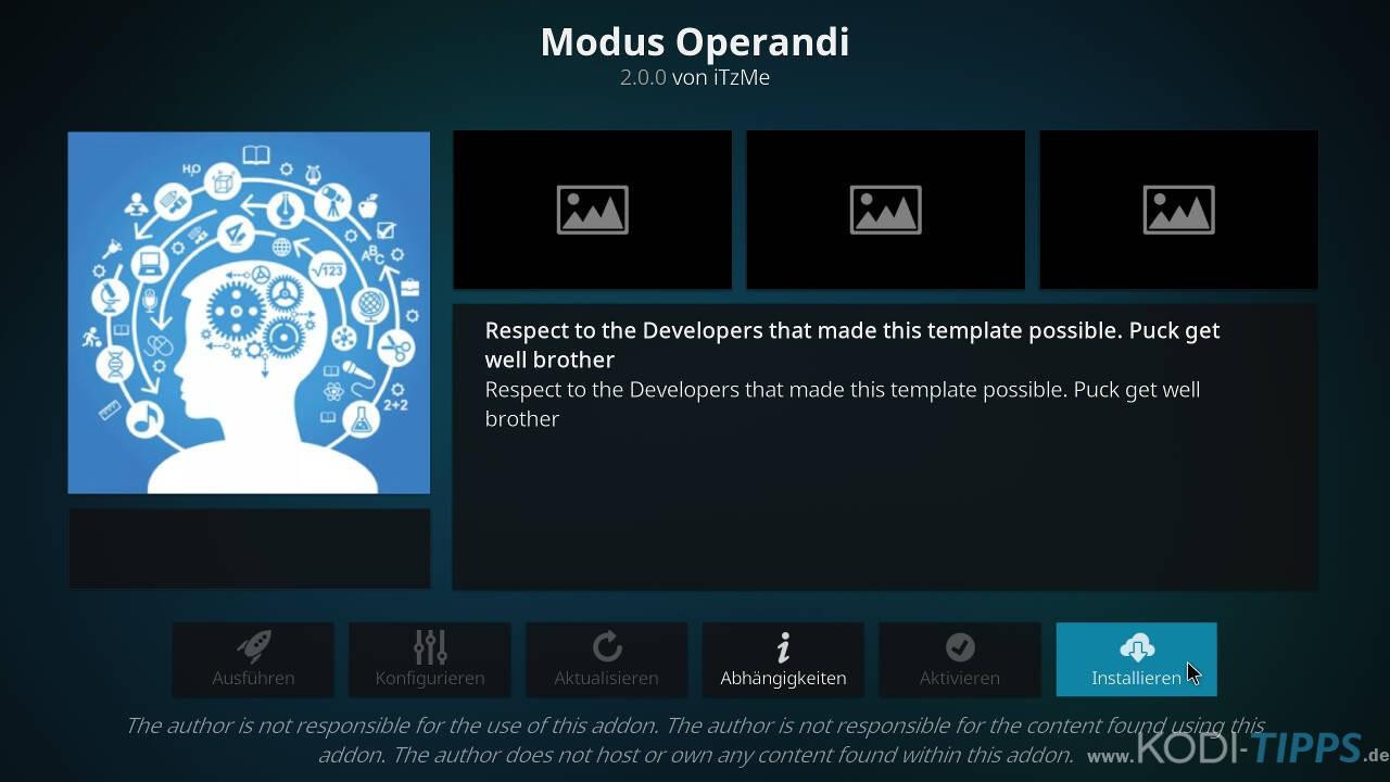 Modus Operandi Kodi Addon installieren - Schritt 8