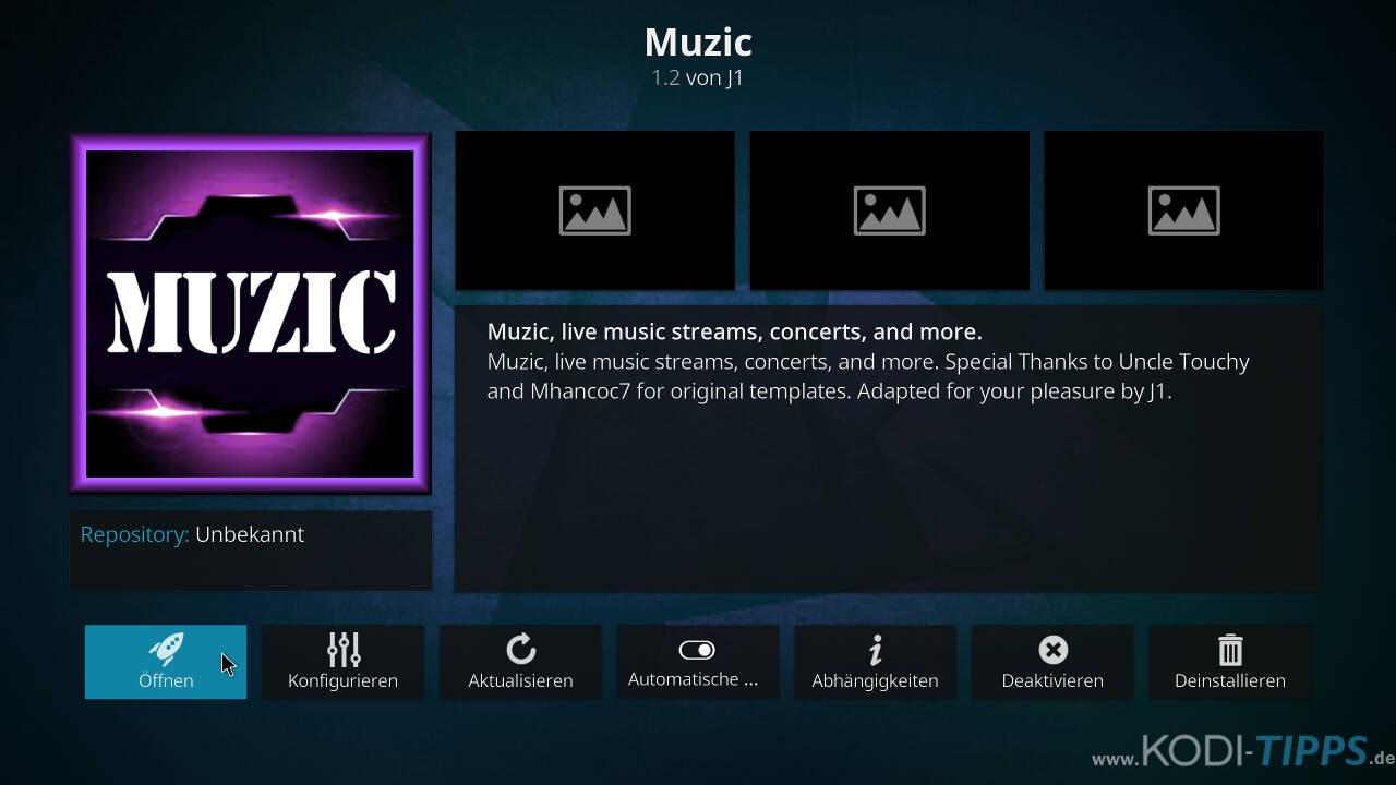 Muzic Kodi Addon installieren - Schritt 11