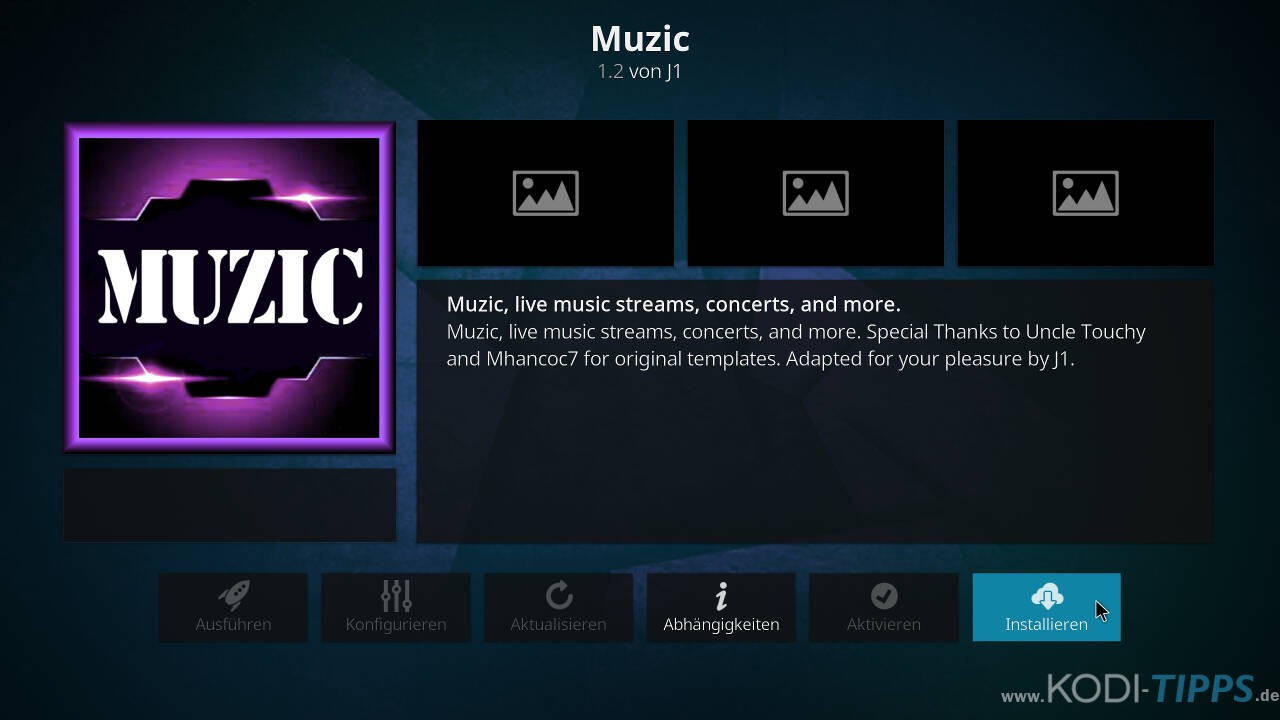 Muzic Kodi Addon installieren - Schritt 8