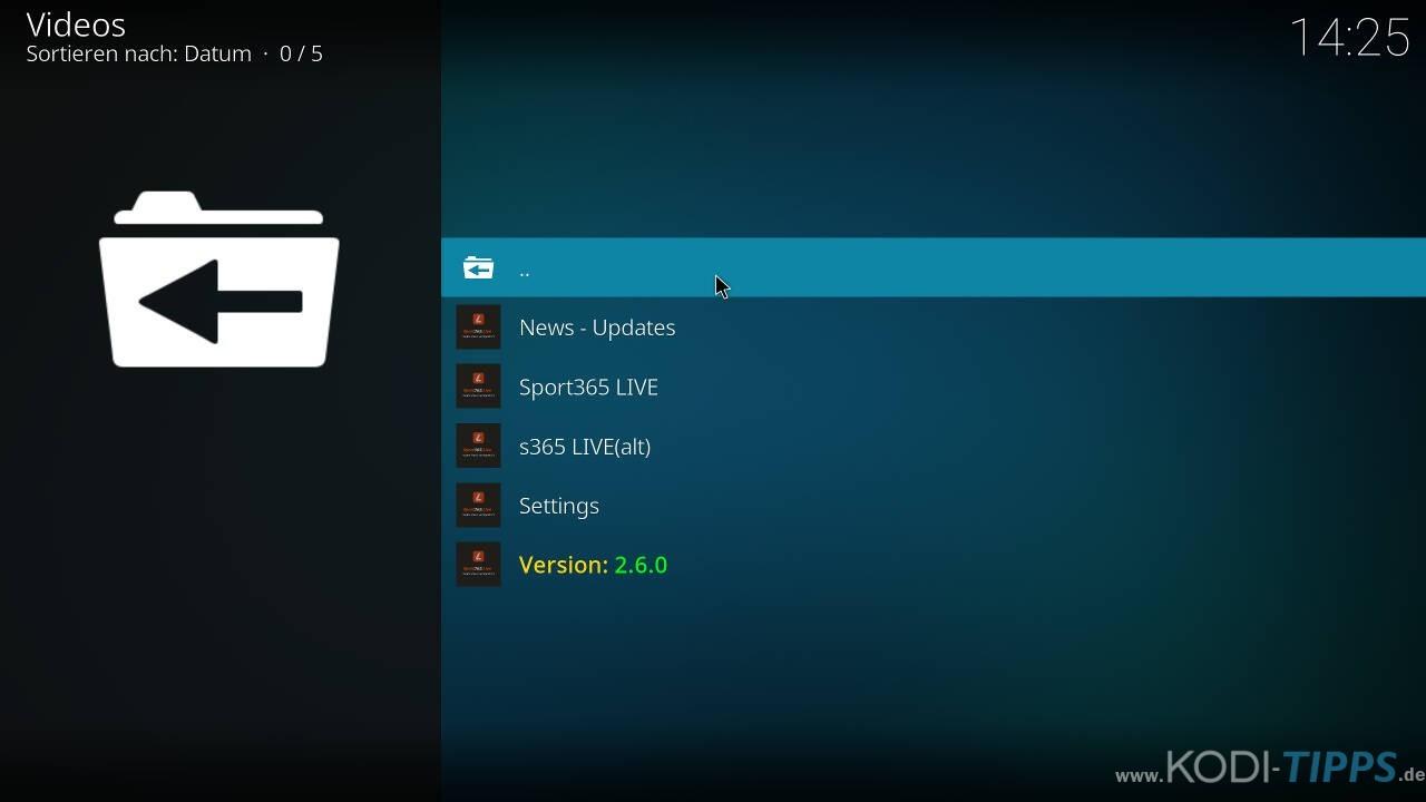 Sport 365 Kodi Addon installieren (UPDATE) – Kodi-Tipps de