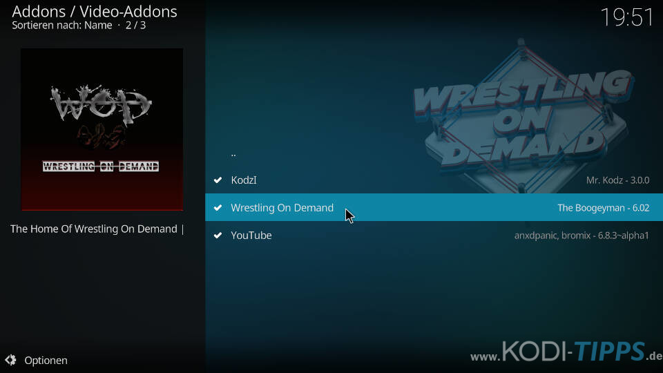 Wrestling on Demand Kodi Addon installieren - Schritt 5