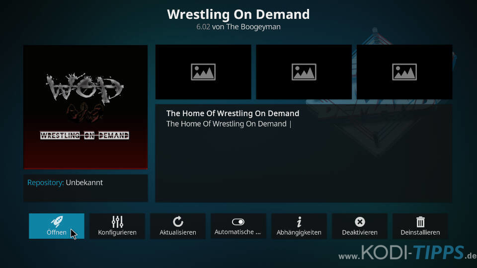 Wrestling on Demand Kodi Addon installieren - Schritt 6