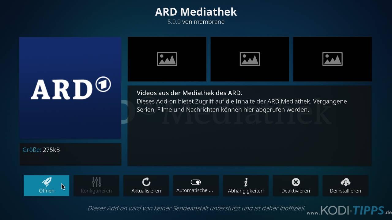 ARD Mediathek Kodi Addon installieren - Schritt 6