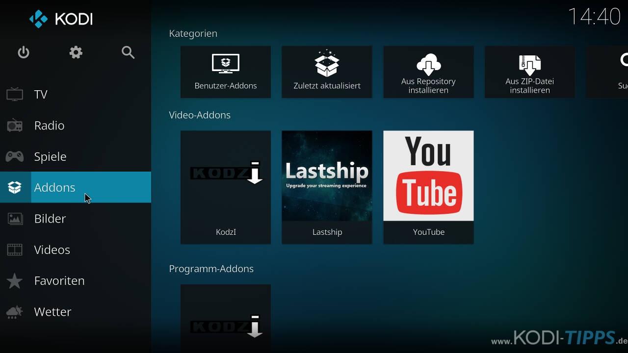 Kodi Addons installieren & benutzen - Bild 1