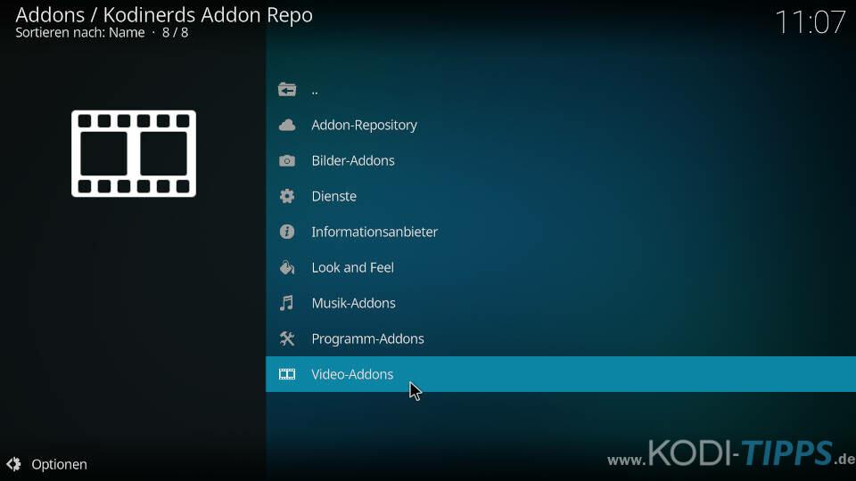 Dokustreams Kodi Addon installieren - Schritt 1