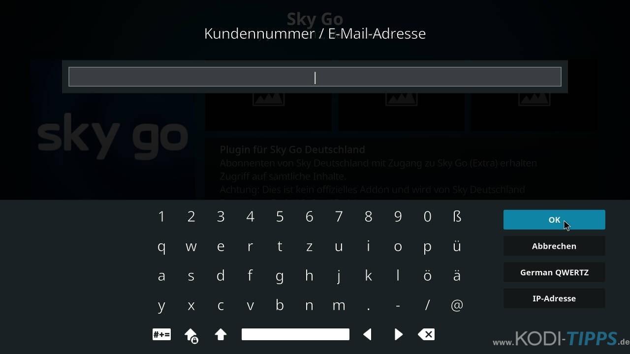 Sky Go Kodi Addon installieren - Schritt 7