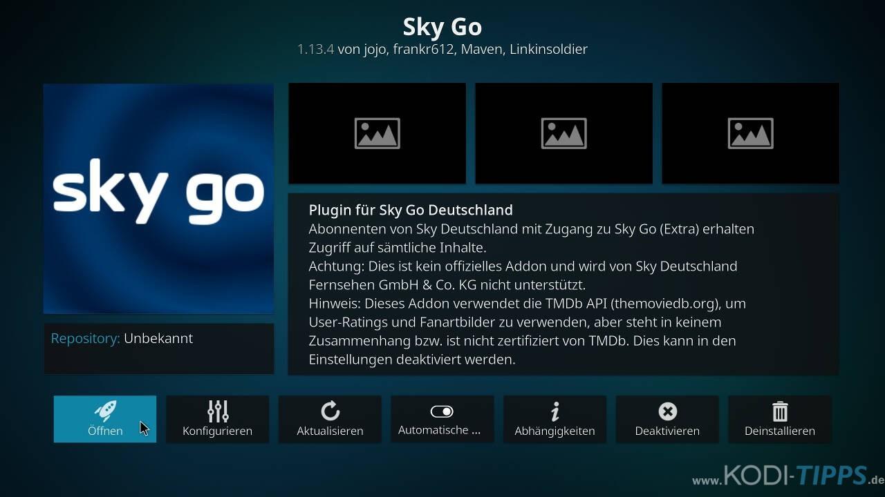Sky Go Kodi Addon installieren - Schritt 8
