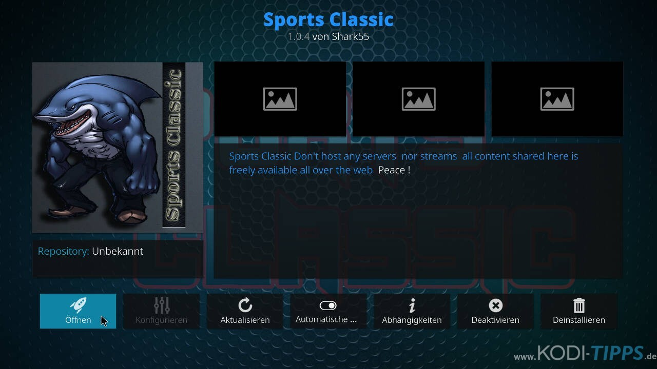 Sports Classic Kodi Addon installieren - Schritt 11