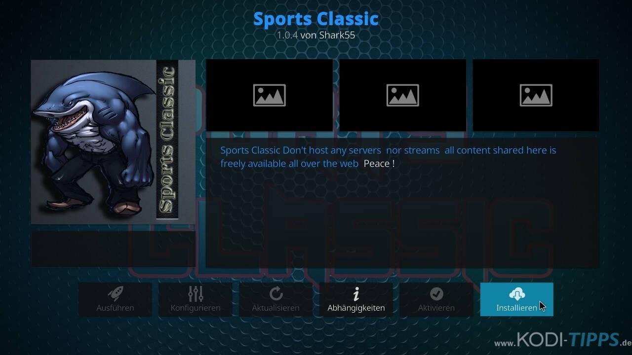 Sports Classic Kodi Addon installieren - Schritt 8
