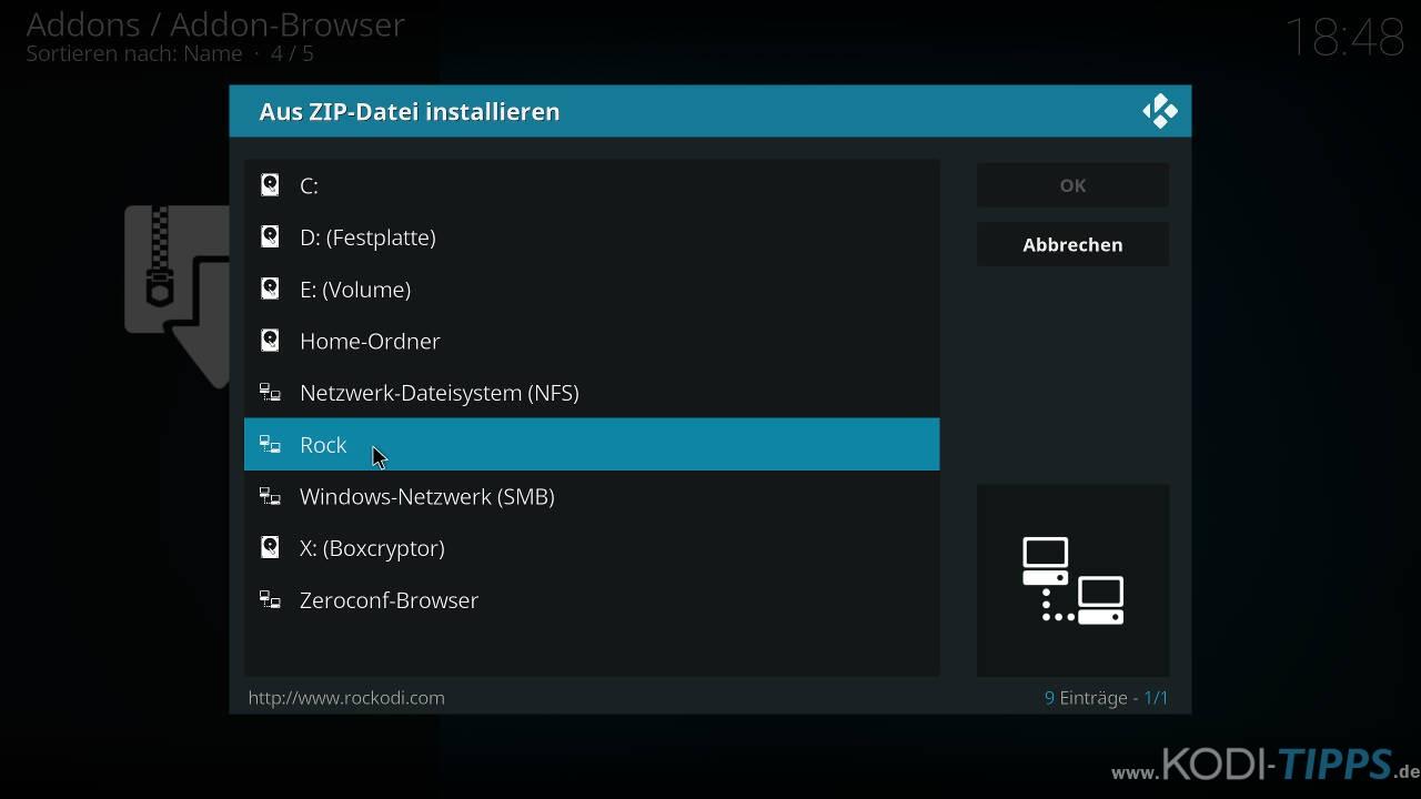 Strikes AllSportz Recaps Kodi Addon installieren - Schritt 1