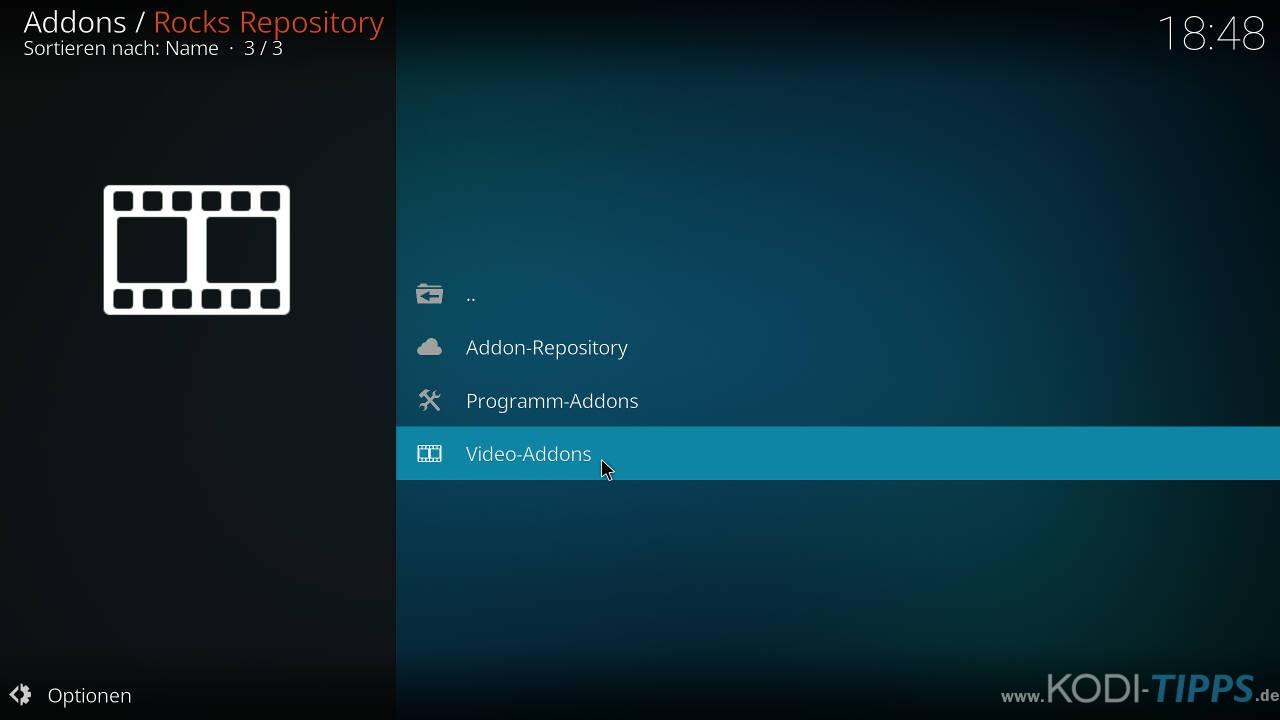Strikes AllSportz Recaps Kodi Addon installieren - Schritt 6