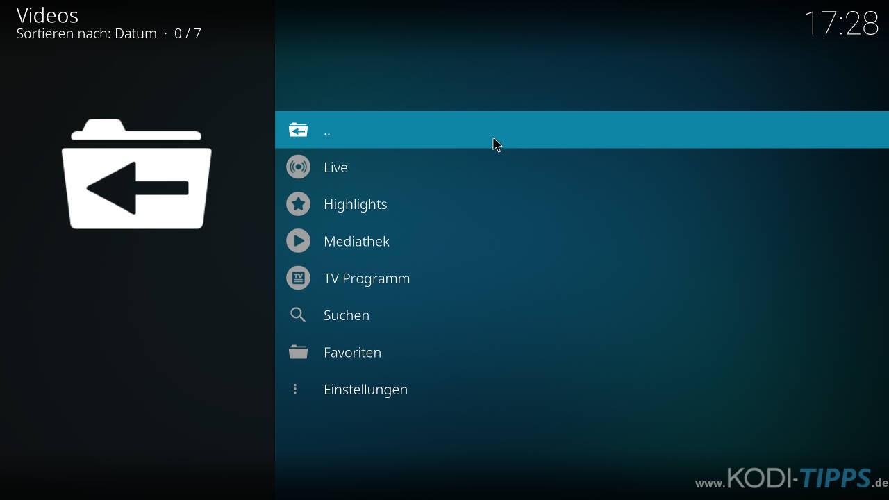 ZAPPN TV Kodi Addon installieren - Schritt 7
