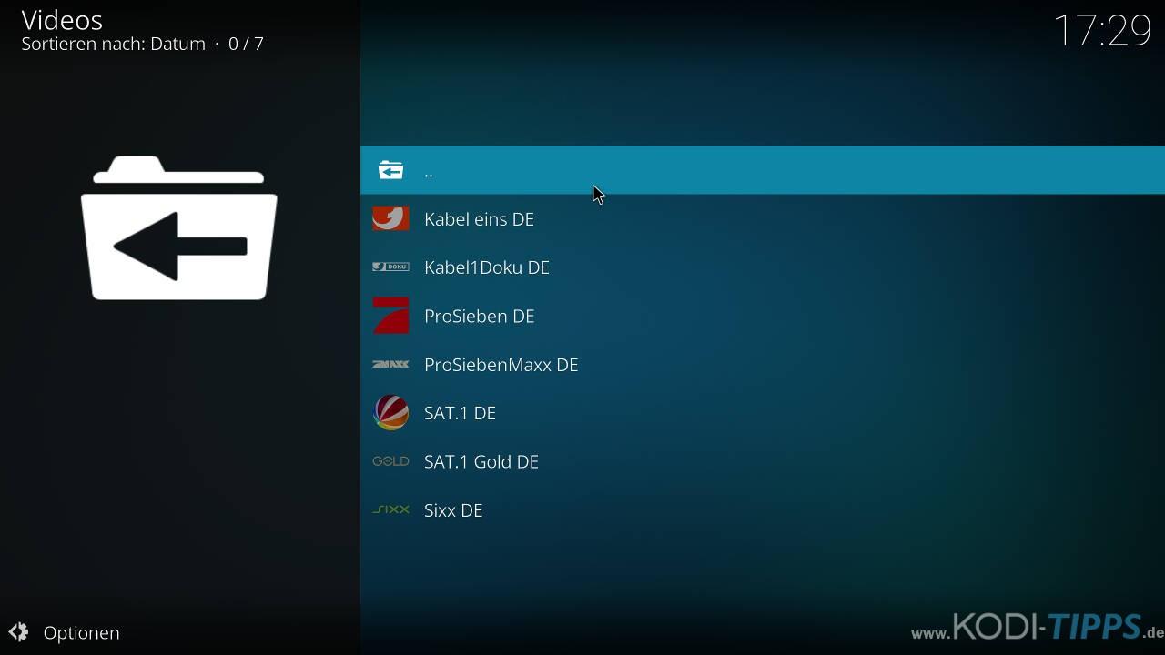 ZAPPN TV Kodi Addon installieren - Schritt 8