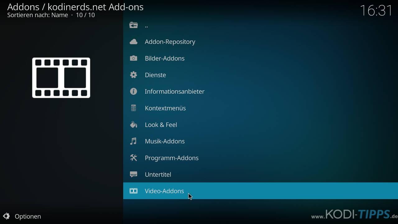 ATV Mediathek Kodi Addon installieren - Schritt 1