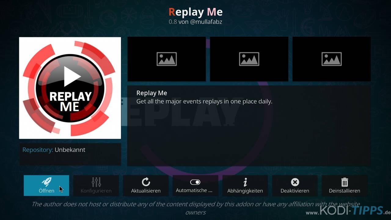 Replay Me Kodi Addon installieren - Schritt 11