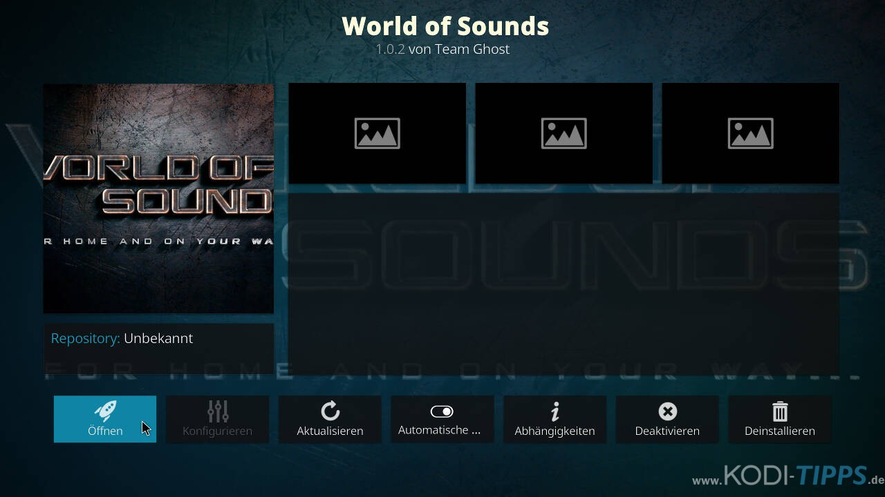 World of Sounds Kodi Addon installieren - Schritt 12
