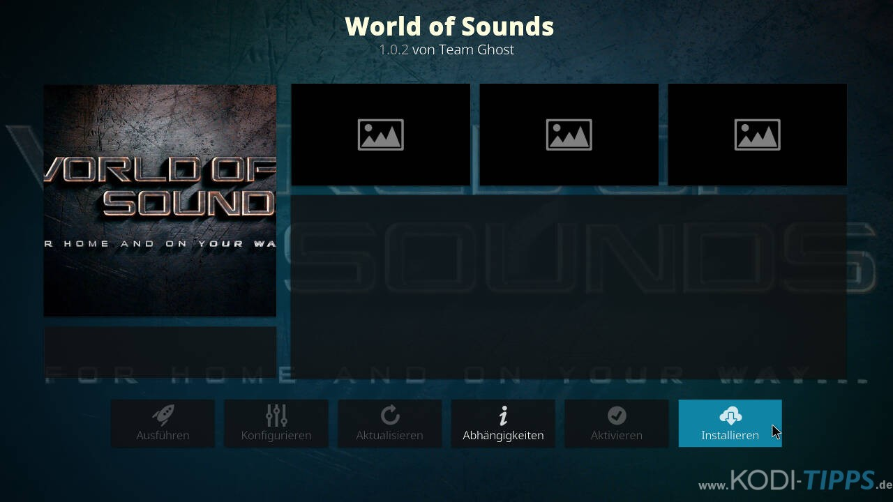 World of Sounds Kodi Addon installieren - Schritt 8