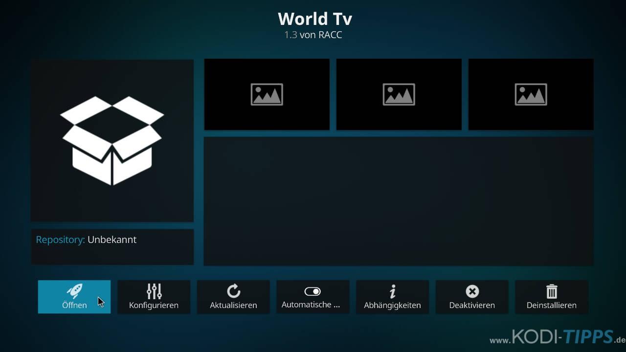 World TV Kodi Addon installieren - Schritt 11