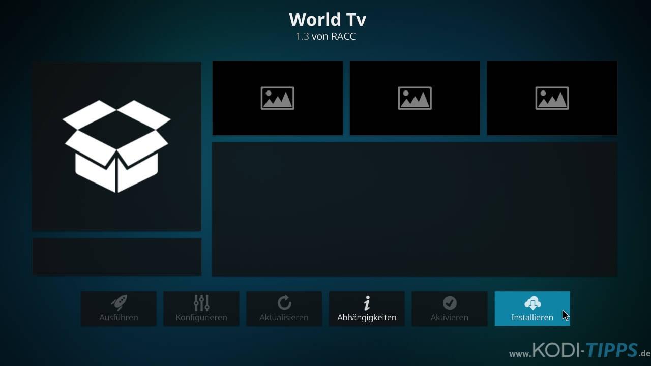 World TV Kodi Addon installieren - Schritt 8
