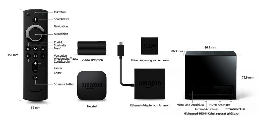 Amazon Fire TV Cube in Deutschland erhältlich - Technische Details
