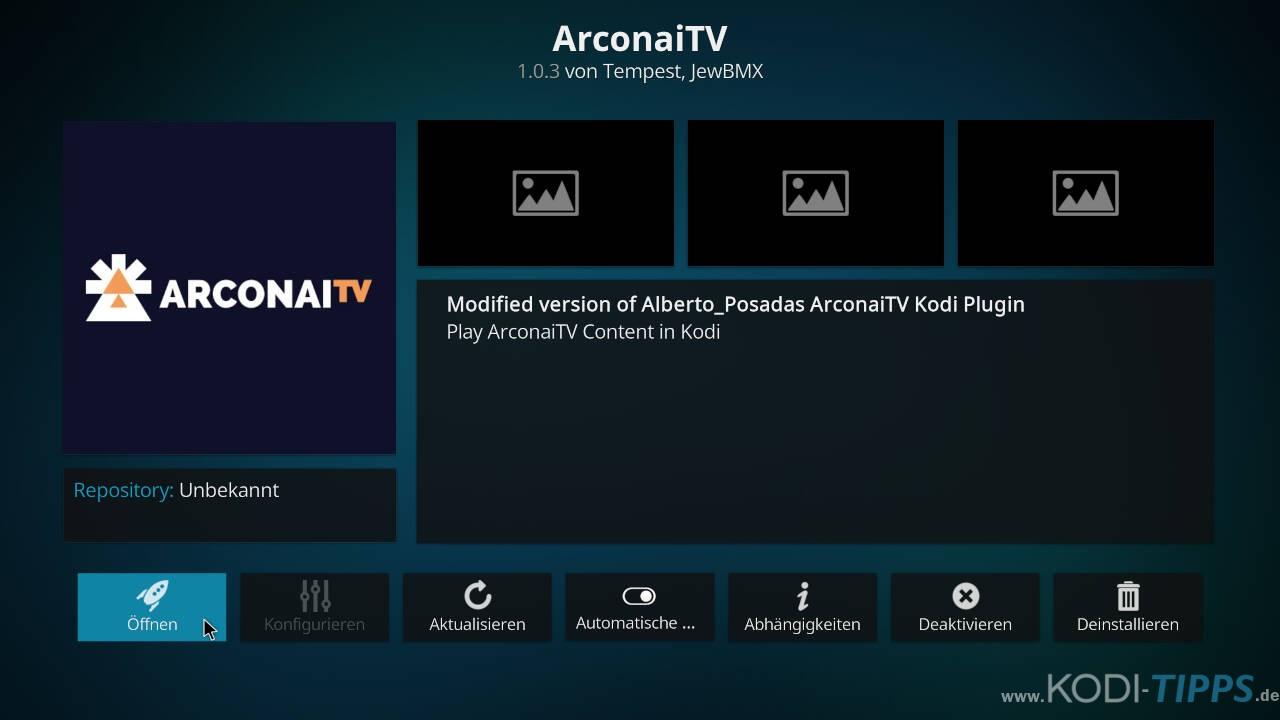 Arconai TV Kodi Addon installieren - Schritt 11