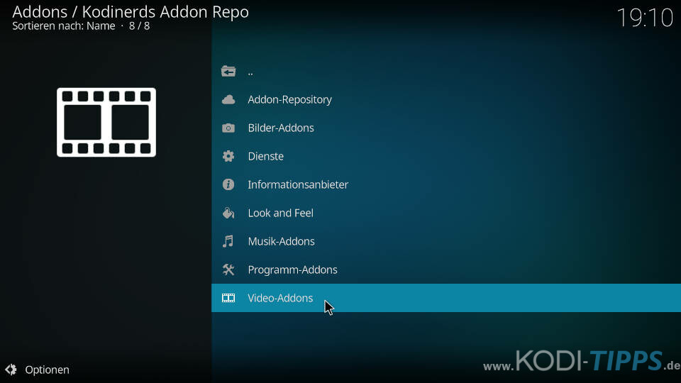 ran Kodi Addon installieren - Schritt 1