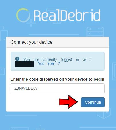 Real Debrid über Kodi Addons verbinden - Schritt 7