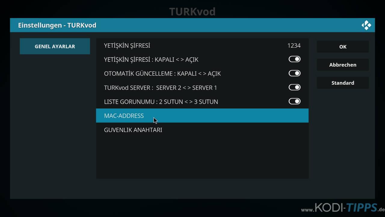 TurkVod MAC-Adresse Fehler beheben - Schritt 5