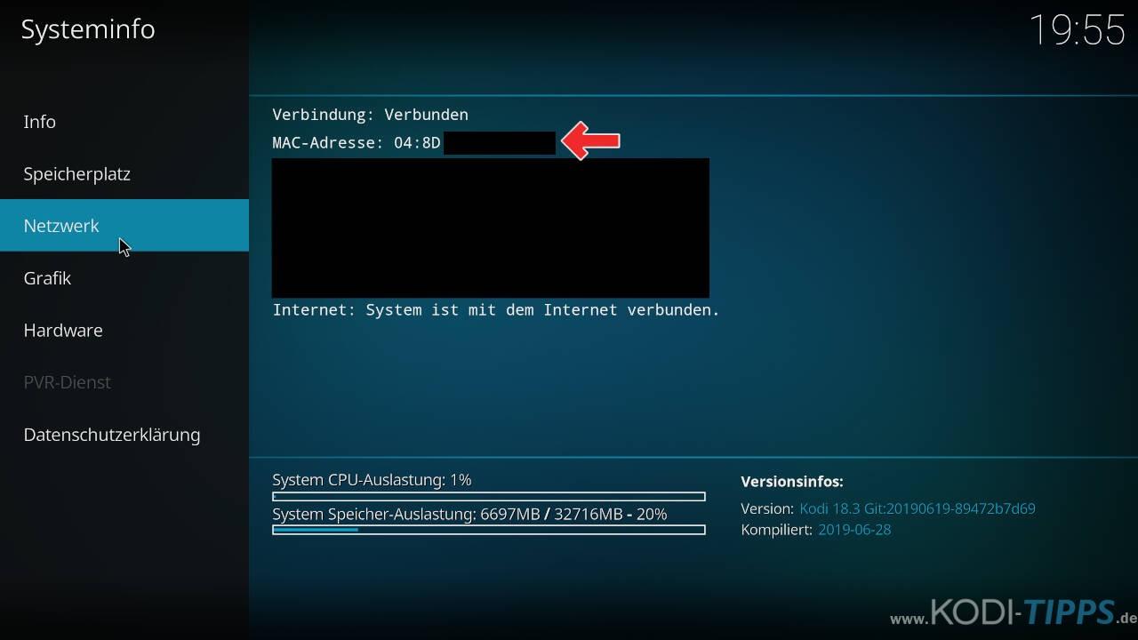 TurkVod MAC-Adresse Fehler beheben - Schritt 3