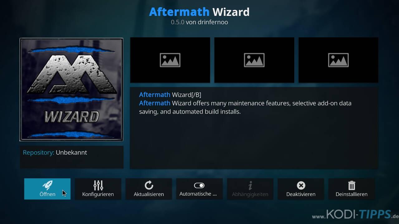Aftermath Wizard Kodi Addon installieren - Schritt 10
