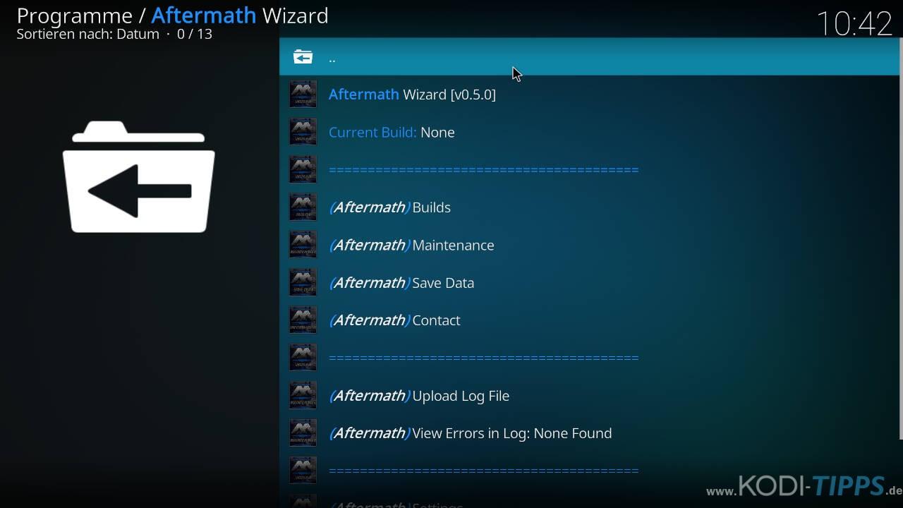 Aftermath Wizard Kodi Addon installieren - Schritt 11