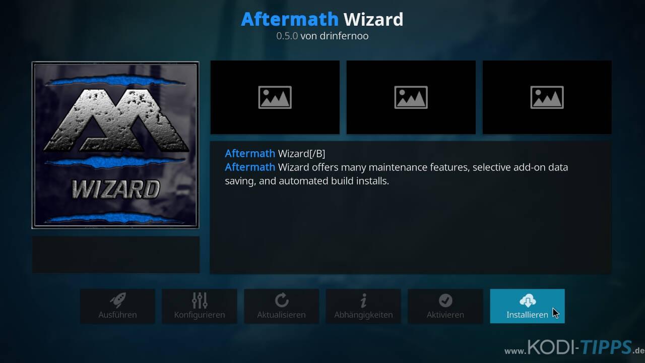 Aftermath Wizard Kodi Addon installieren - Schritt 8