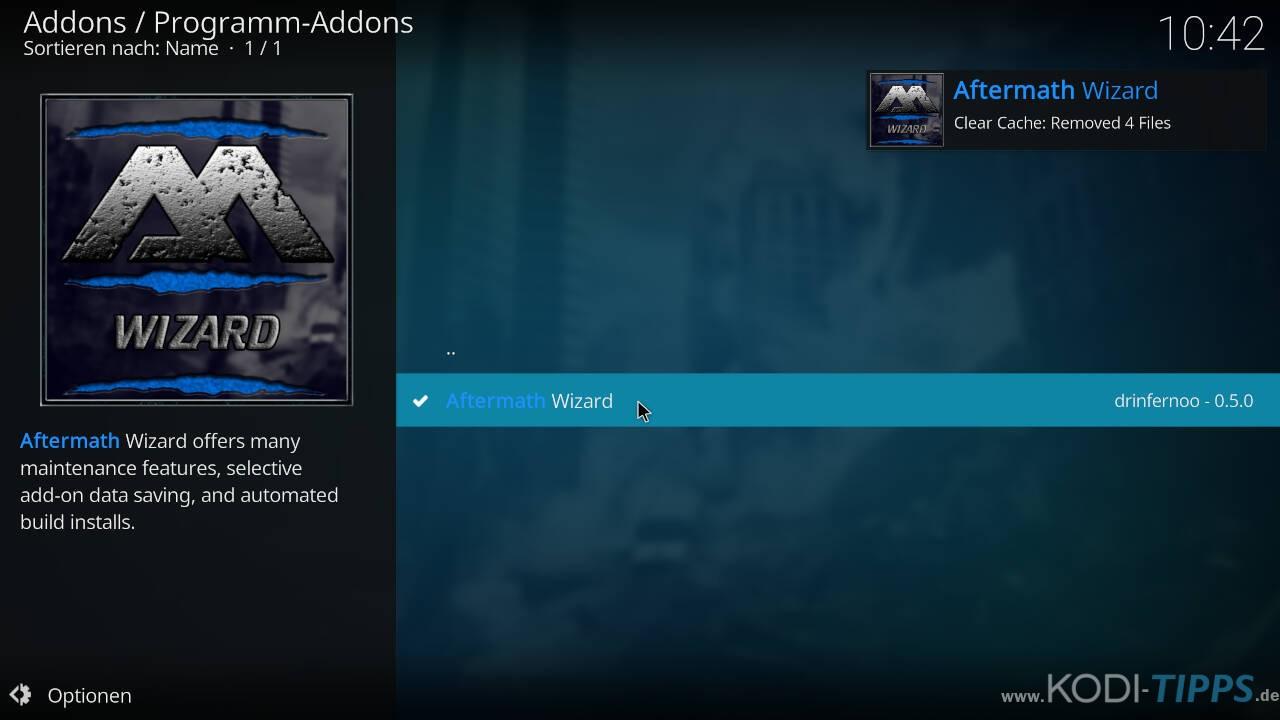 Aftermath Wizard Kodi Addon installieren - Schritt 9