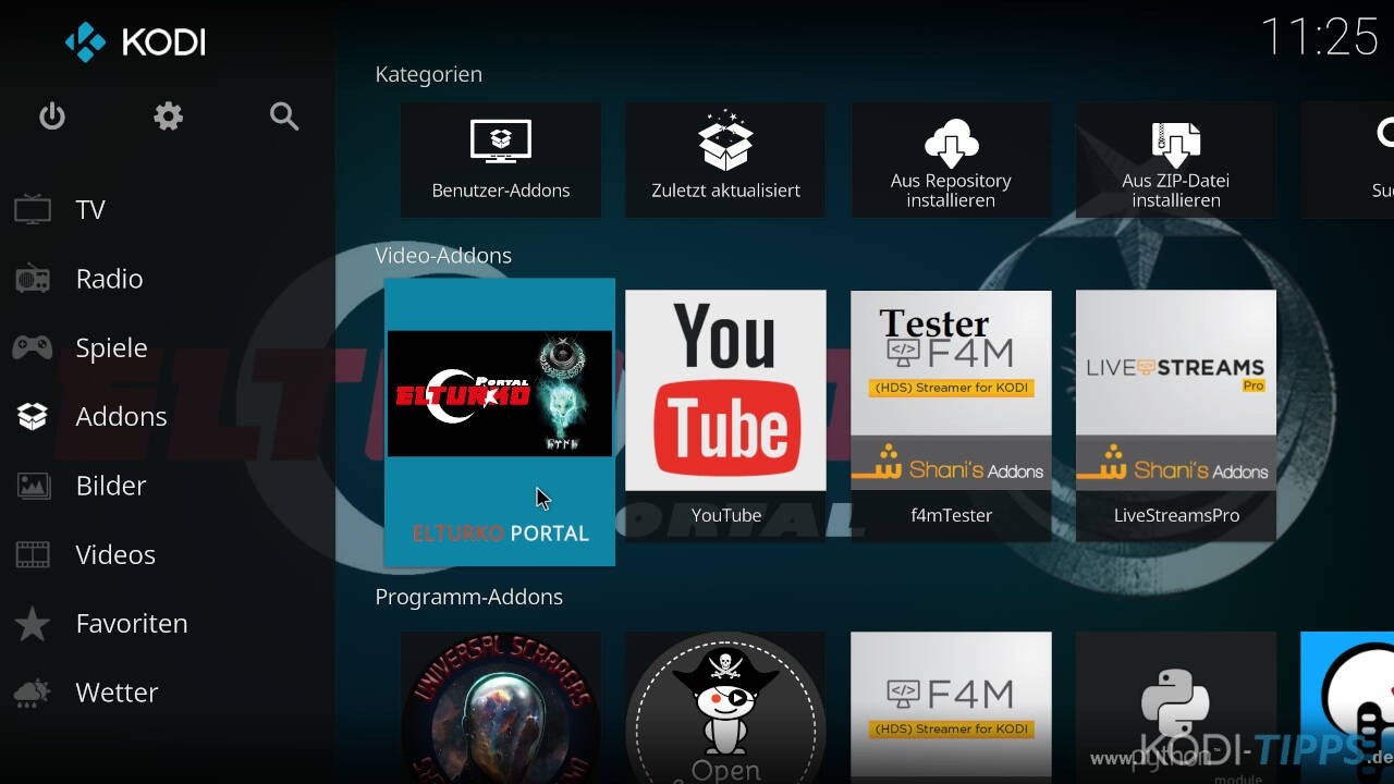 El Turko Portal Kodi Addon installieren - Schritt 21
