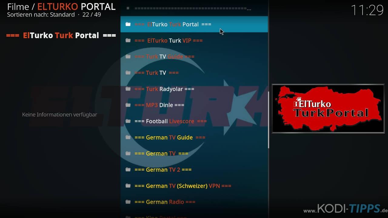 El Turko Portal Kodi Addon installieren - Schritt 23