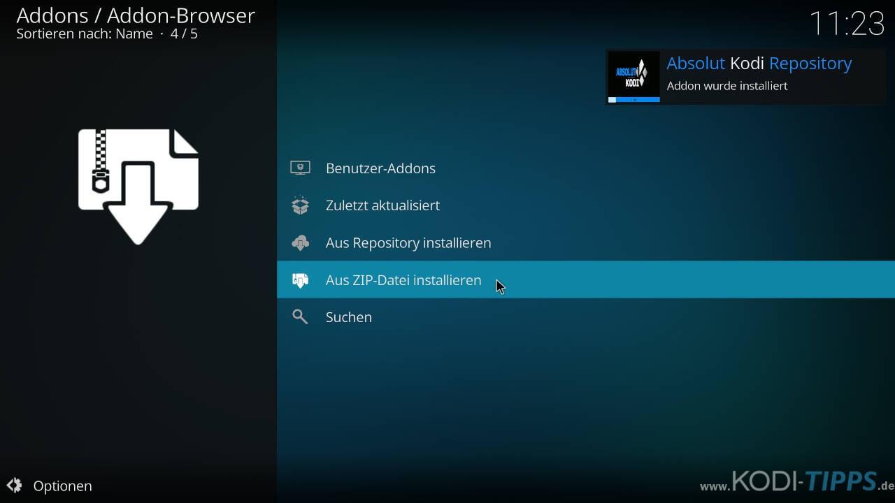 El Turko Portal Kodi Addon installieren - Schritt 4