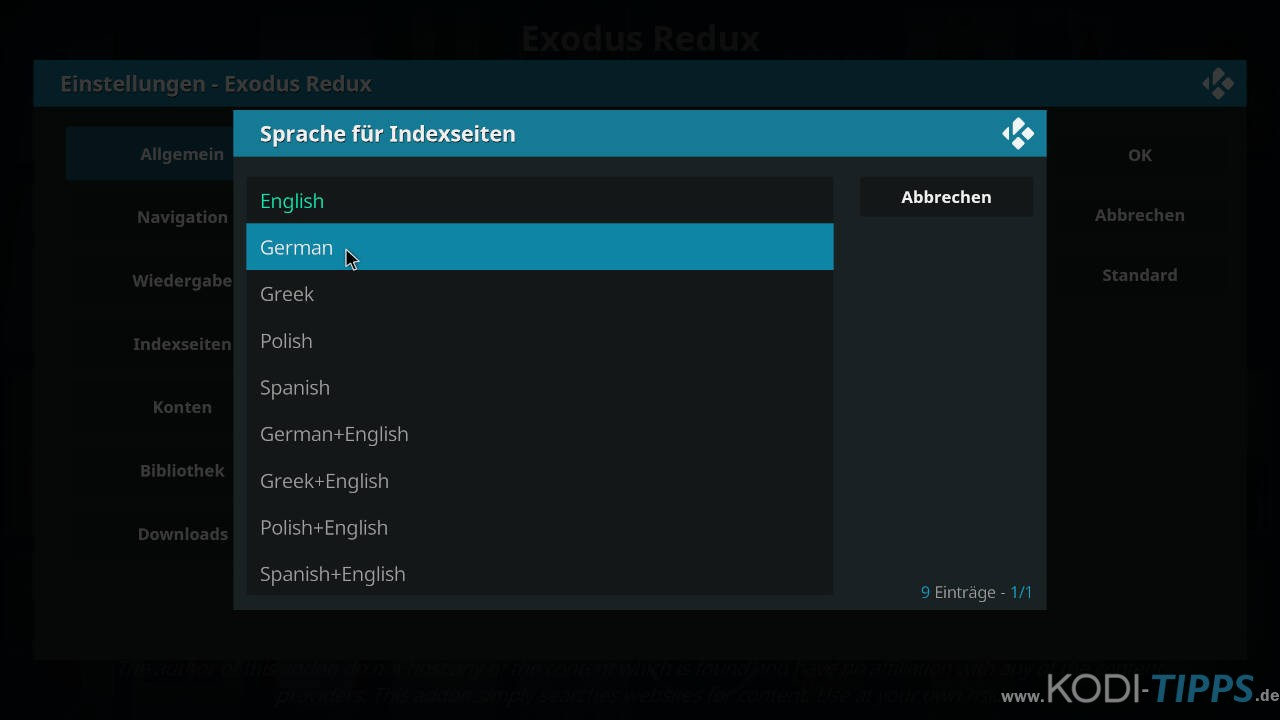 Exodus Redux auf Deutsch umstellen - Schritt 4
