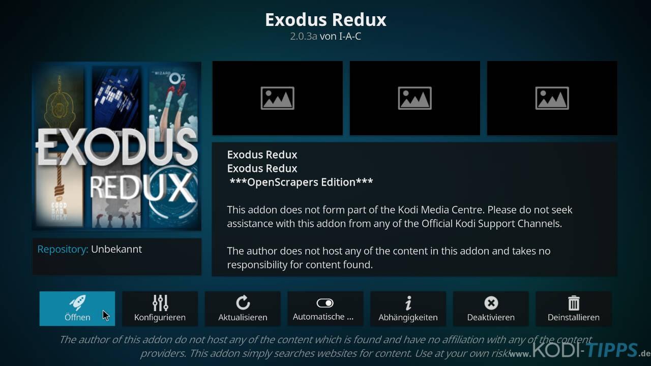Exodus Redux Kodi Addon installieren - Schritt 11