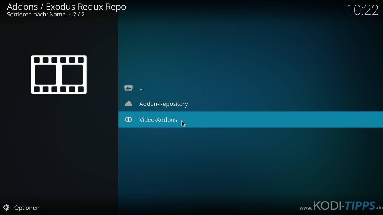 Exodus Redux Kodi Addon installieren - Schritt 6