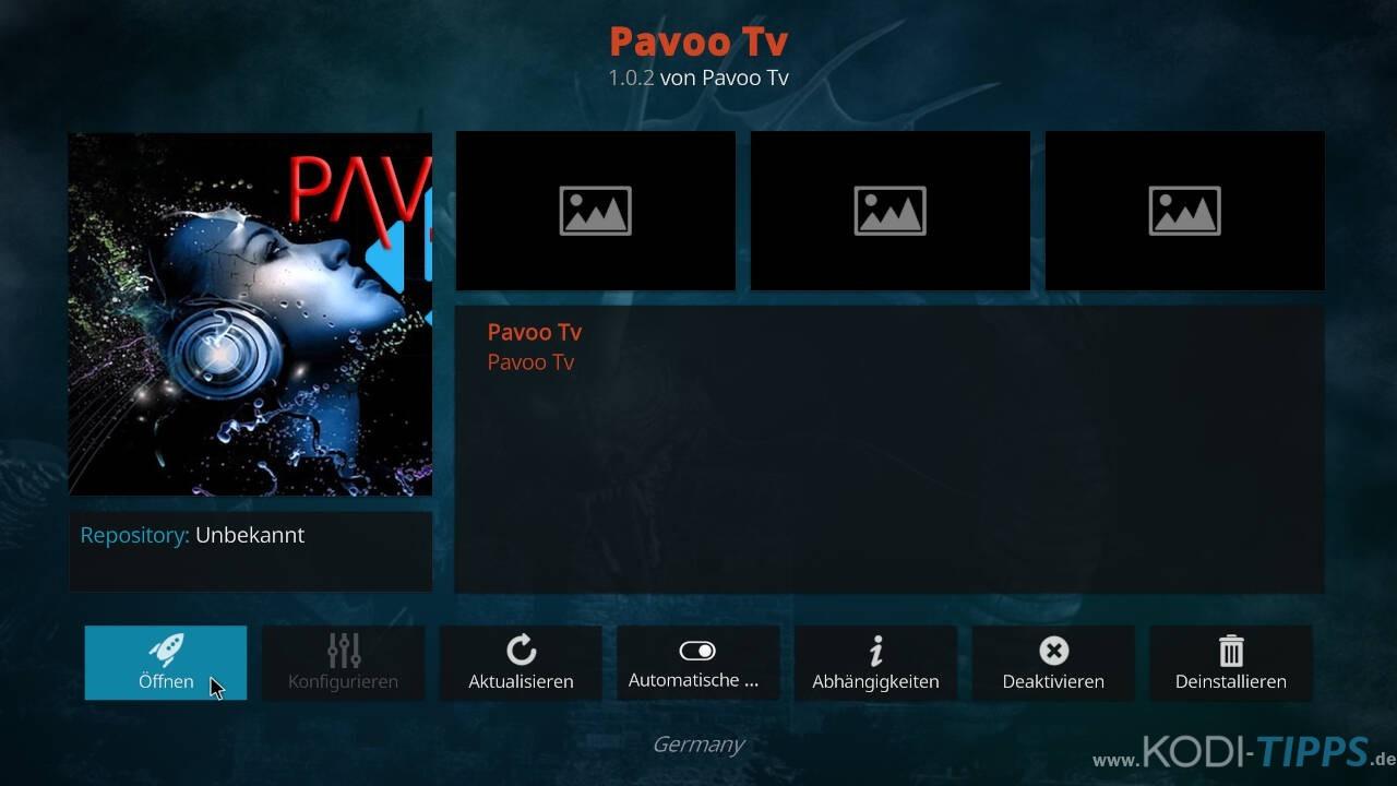 Pavoo TV Kodi Addon installieren - Schritt 11