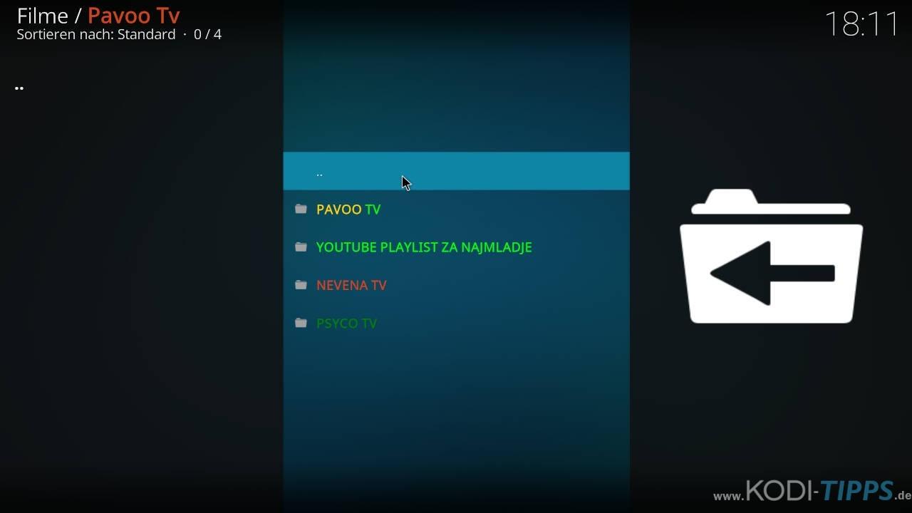 Pavoo TV Kodi Addon installieren - Schritt 12