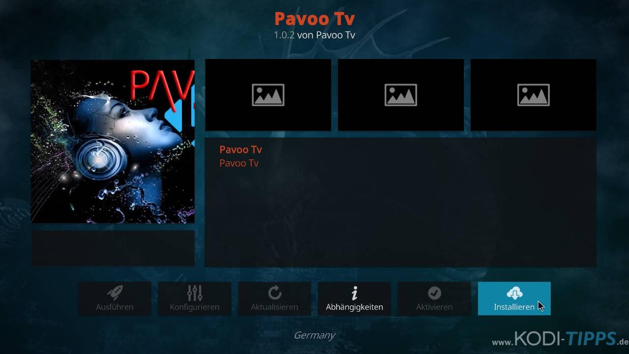 Pavoo TV Kodi Addon installieren - Schritt 8