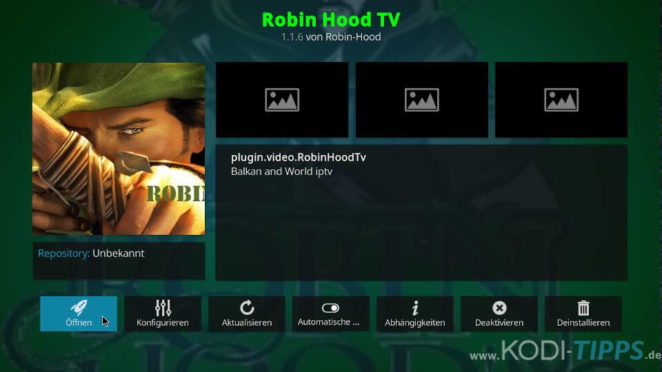 Robin Hood TV Kodi Addon installieren - Schritt 11