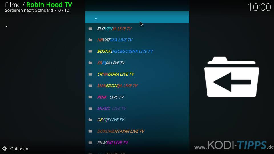 Robin Hood TV Kodi Addon installieren - Schritt 13